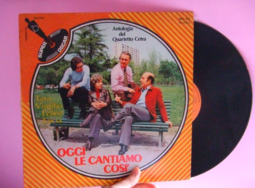 Quartetto Cetra, Virgilio Savona, Oggi le cantiamo così, LP; disco, Diego Altobelli